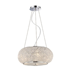 Lustr Ideal Lux Pasha SP6 cromo